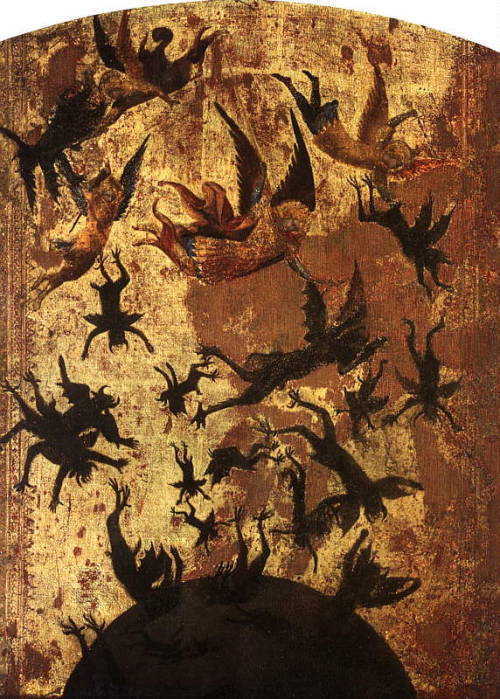 felixinclusis:  fyeahgothicromance: The Master of the Rebel Angels (cir. 1340), anonymous master of the Sienese School
