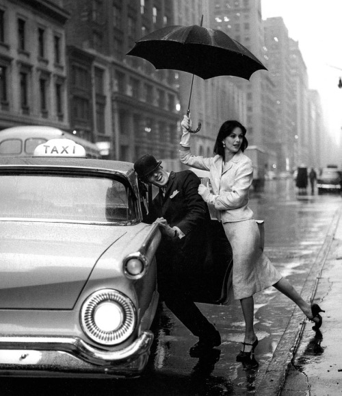 anne st. marie and fabian malloy, new york, 1958 - by jerry schatzberg