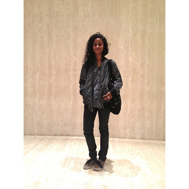 Bumped into @vashtie at the BBC showroom. She's just as gorgeous in person. I'd add emojis, but we're too grown for all that. (at Roc Nation / BBC Showroom)