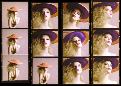 What About the Girls - Contact Sheets 2 Juliette@Models1 Too beautiful. Photography: Christian Alegria Styling/Direction: Me Make-up: Yen Voang Hair: Yoshitaka Miyazaki Model: Juliette@Models1 Hats: Noel Stewart