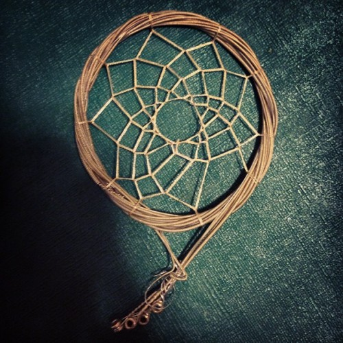 Thank you @soulaughter7 . #guitarstring #dreamcatcher #birthdaygift