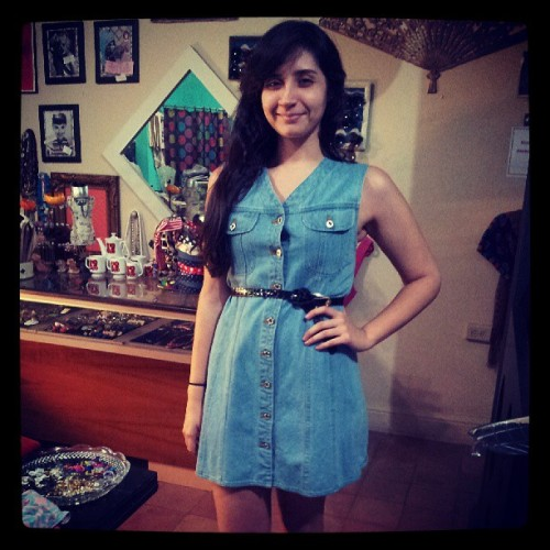 Denim dress! Perfect!
