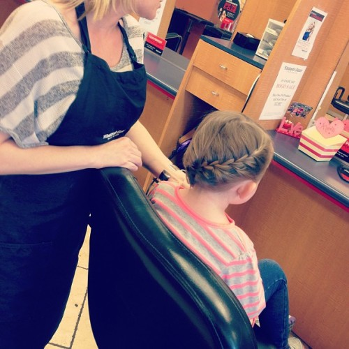 Aww Adelles #babydo #braid #frenchbraid