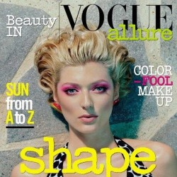 Well I think my beauty in vogue cover may be out… #vogueitalia #fashion #magazine #vogue