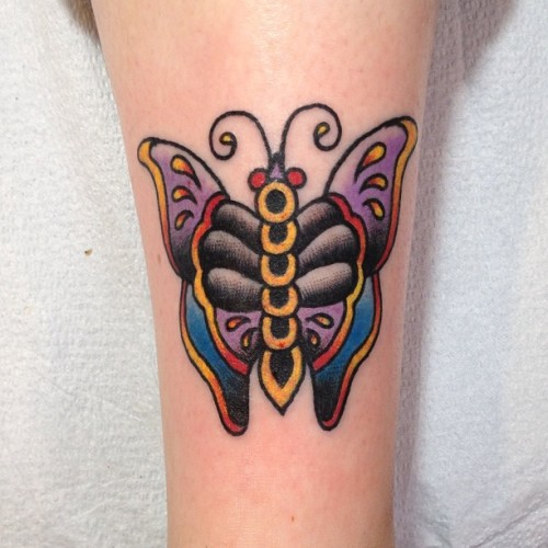Fun #traditional #butterfly #tattoo today! #missionink #liverad #tf