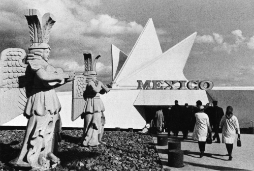 Mexico Pavilion, Expo '67, Montreal, 1967. Defined by a 'fan' of hyperbolic paraboloids, the 'half' of Mexico's pavilion for this fair, seen here (the other 'half' of the pavilion featured a replica of an ancient Maya structure), is only one of many fascinating artifacts of midcentury exhibitionary culture to be examined in my forthcoming book, The Exhibitionist State: Image Economies of the Mexican 'Miracle' (2014).