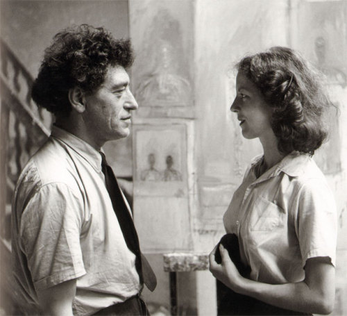 Alexander Liberman: Alberto and Annette Giacometti, Paris, 1951. The Unseen Giacometti - Unknown Photographs and Drawings (Scheidegger & Spiess, Zürich, 2011)