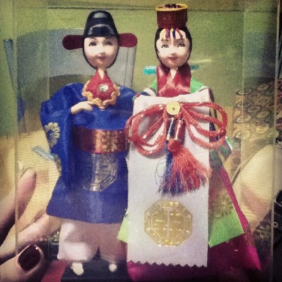 Thank you for the cute Korean dolls, @debehbeh64! Going to miss you for sure :( take care of yourself back in Korea, okay? I'll go there… soon ;) love you!
