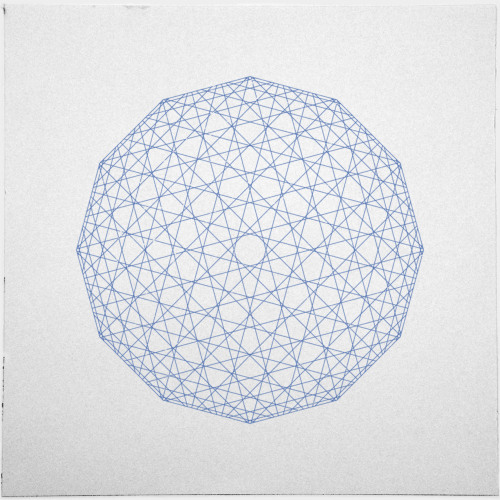 geometrydaily:  #409 Low-res sphere – A new minimal geometric composition each day