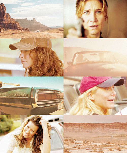 Crossover: Kate and Juliet as Thelma and Louise