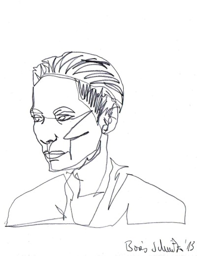 Tilda Swinton, one-line-drawing by Boris Schmitz, 2013 For more click »HERE«