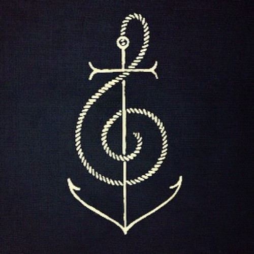 """ Nautical Treble Clef """