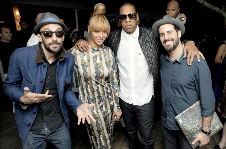 papermag:  Ooh, Beyonce & Jay-Z stopped by Jose Parla's Art Basel book party last night in Miami! More pics.