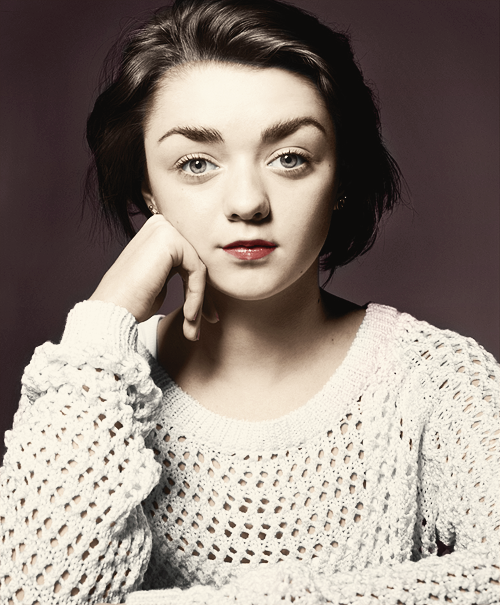 ladylannster:  [Arya's] feisty, a bit of a rebel, a tomboy, she is also quite brave and quick thinking, she wants to be listened too but sees everything very black and white…bit like me really!