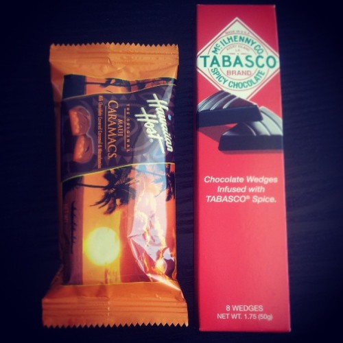 I love #tabasco and I love #chocolate and this combo is so delicious! And #Hawaiian Caramacs mmmm #yum