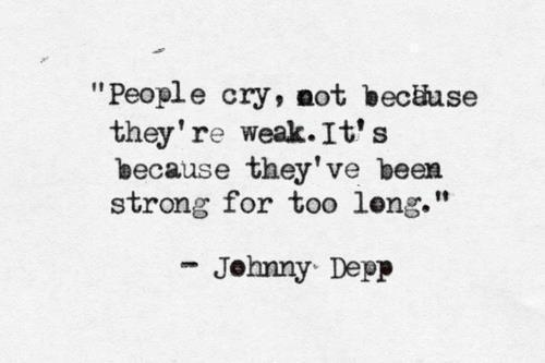 Wise words Johnny.