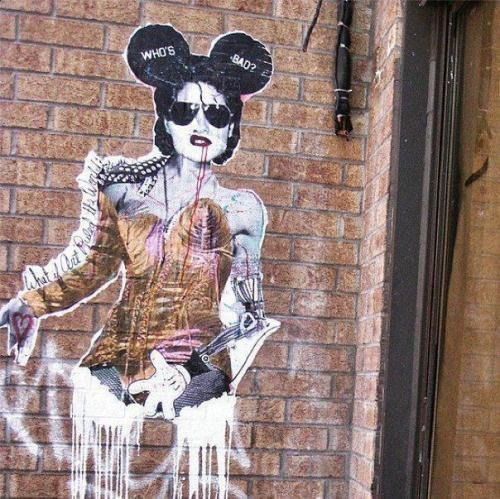 madonnascrapbook:  #Madonna Street Art  Love