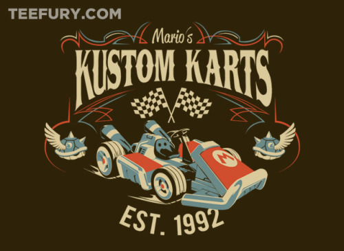 A Plumber's Go-Kart by stevethomas - For sale on April 15th at Teefury US $11 for 24 hours only Artist: Website | Twitter | Facebook | Tumblr Watch out for hazards!