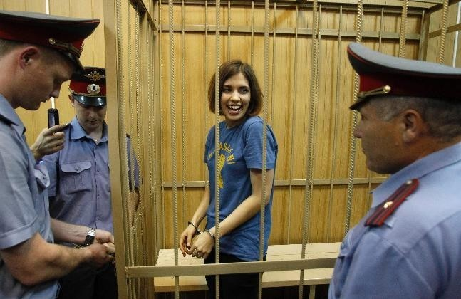 Pussy Riot's Nadezhda Tolokonnikova Hospitalised due to Hard Labour in Siberian Prison Colony. http://www.ibtimes.co.uk/articles/430490/20130201/pussy-riot-member-nadezhda-tolokonnikova-taken-prison.htm