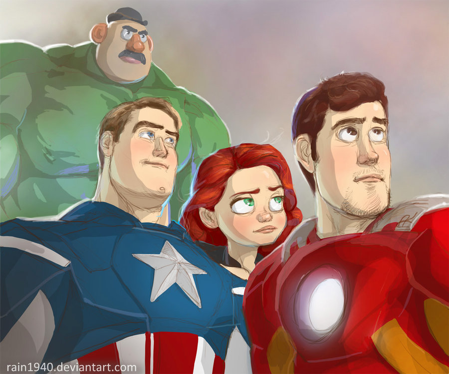 techartgeek:  Andy's Avengers by *rain1940
