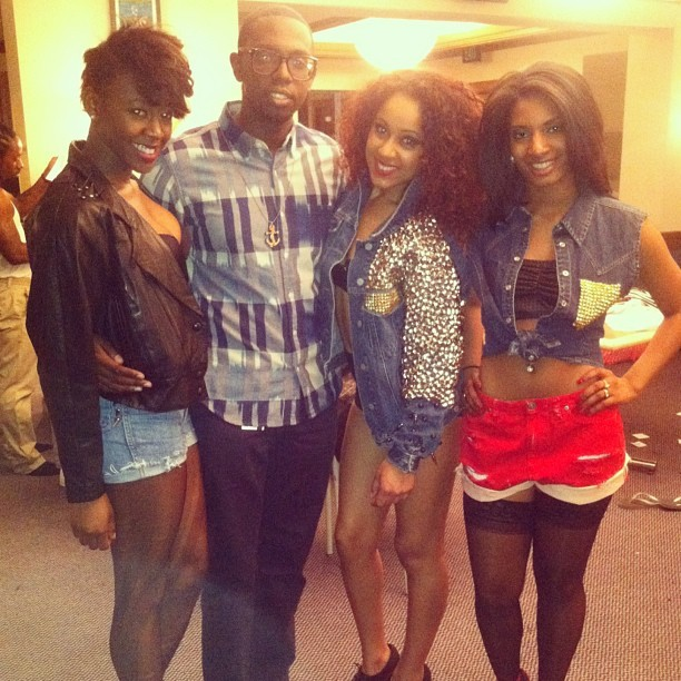 Shouts to these lovely ladies  @riahsofire x @mo_les x @lovesegi_xo… They looked great in custom Be About It w/ Style pieces! #sasafashionshow #StuddedDenim #Spikes #Custom #style #fashion