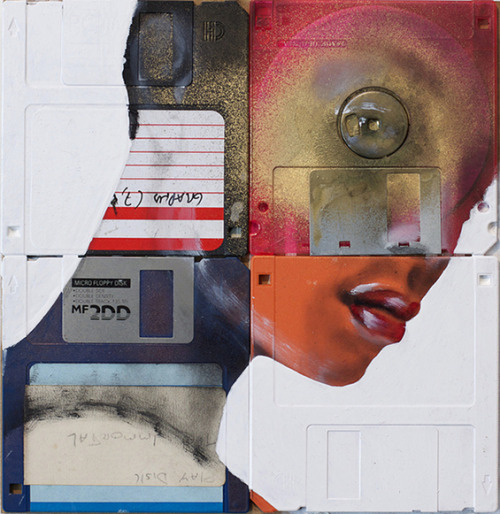 "staceythinx:  Xchange by Nick Gentry  About his work:  Much of his artistic output has been generated with the use of contributed artefacts and materials. He states that through this process ""contributor, artist and viewer come closer together"". His art is influenced by the development of consumerism, technology, identity and cyberculture in society, with a distinctive focus on obsolete media.     Humans life is art"