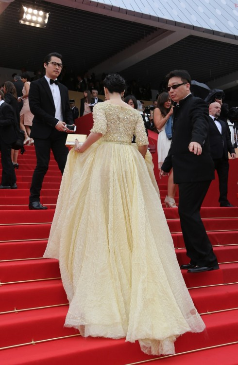 suicideblonde:  Fan Bing Bing at the Cannes Film Festival, May 16th