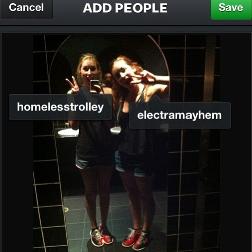 homelesstrolley:  Just went through and tagged all of my photos!  Shit, look at us all matchy and stuff always. CREW. WHAT.