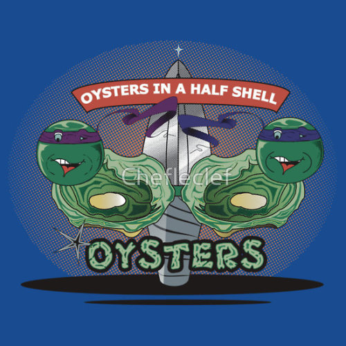 Oysters In A Half Shell on redbubble