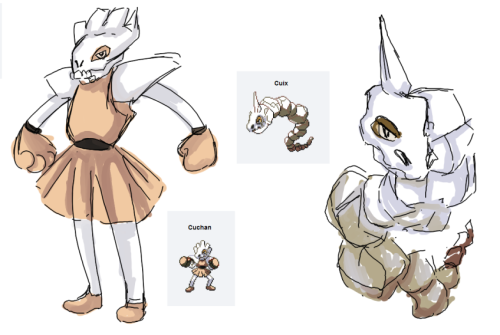 polterpastry:  Pardon me but CUBONE IS ONE OF THE MOST BADASS POKEMON TO FUSE WITH EVERYTHING everyone else go home (Holy shit five minute draws I love this shit it's so inspirational idfk guys)