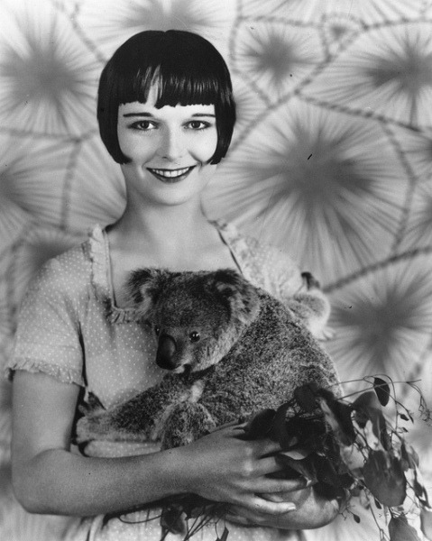 Louise Brooks and a little Australian friend - c. 1920s