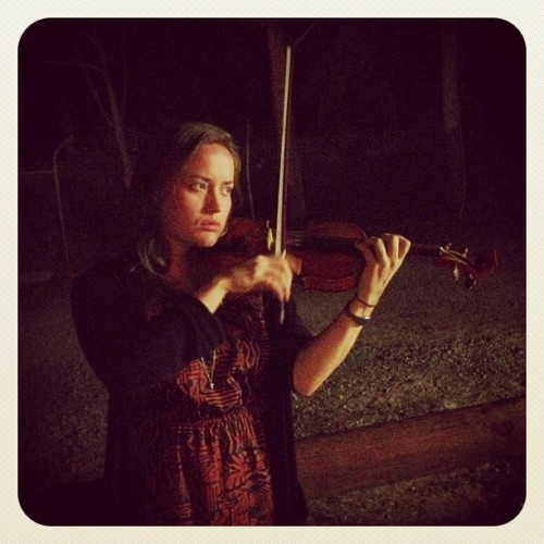 introducing the live band, part 8. laufey from the okkr ensemble on violin. http://instagr.am/p/VcGKOeocT-/