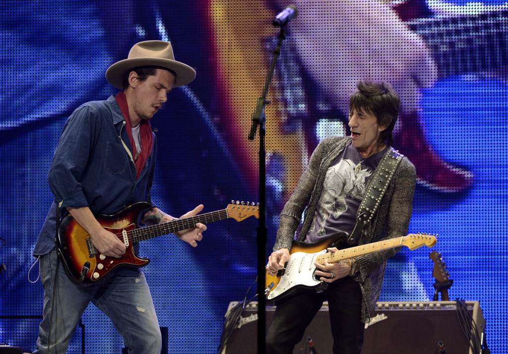 marciafernandez:  John Mayer and Rolling Stones perform in Honda Center. Photo by Kevin Winter