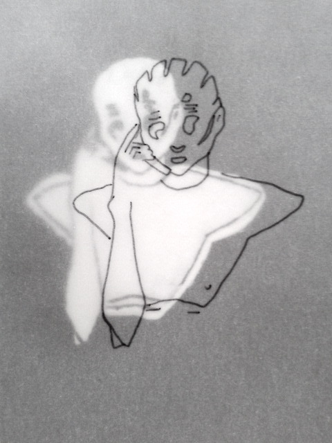 tat-art:   illustration by Bär.  Sanne Peper backstage at Maison Martin Margiela SS09.