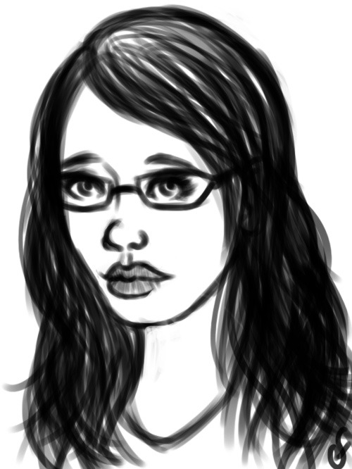 Cooldown doodle self portrait.
