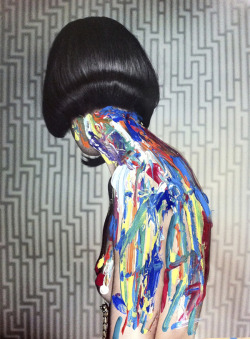 republicx:  Picture of the day!body painting by Melle Mime (gouache on Erwin Olaf's photo)