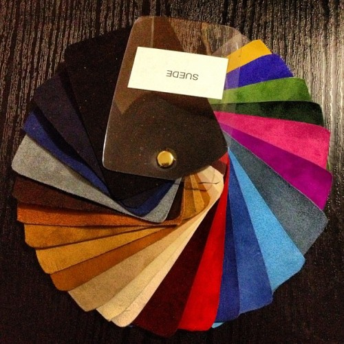 Shoe magic: Pick a colour, any colour!… Forget #50ShadesOfGrey I want #50ShadesOfSuede! Only by @s_b_adisa_shoes!