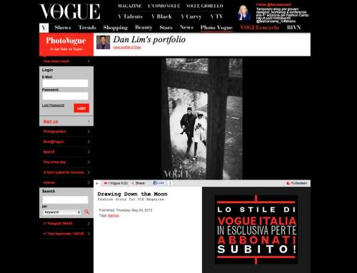 Dan Lim's Drawing Down The Moon is featured in Vogue Italia - Photo Vogue! http://bit.ly/10z2K4n