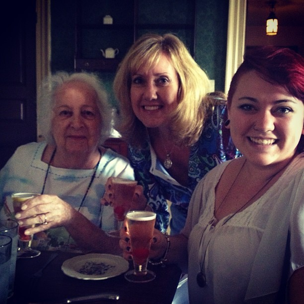 Three generations with our champaign cocktails. Love these women.