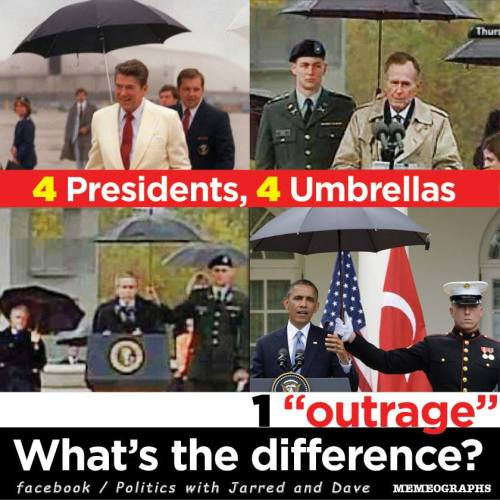 moreleftthannot:  What could it be? What distinguishes these four presidents from one another? Image by Memeographs.