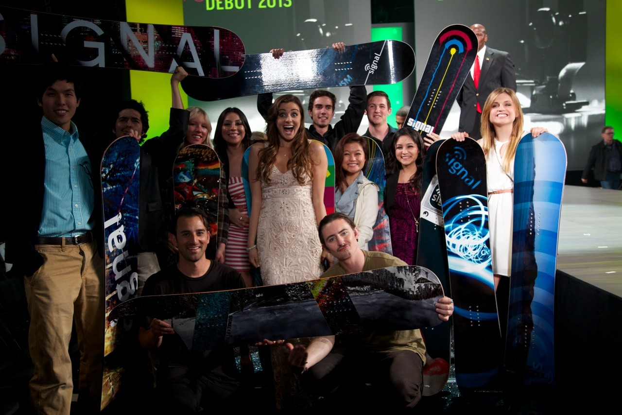 Signal Snowboards teamed up with the Fashion Institute Of Design And Merchandising for a unique fashion forward Every Third Thursday build! This asymmetrical shape will have you shredding the slopes and walking the runway in the same day! Watch: http://youtu.be/6IyX_O-7oJs
