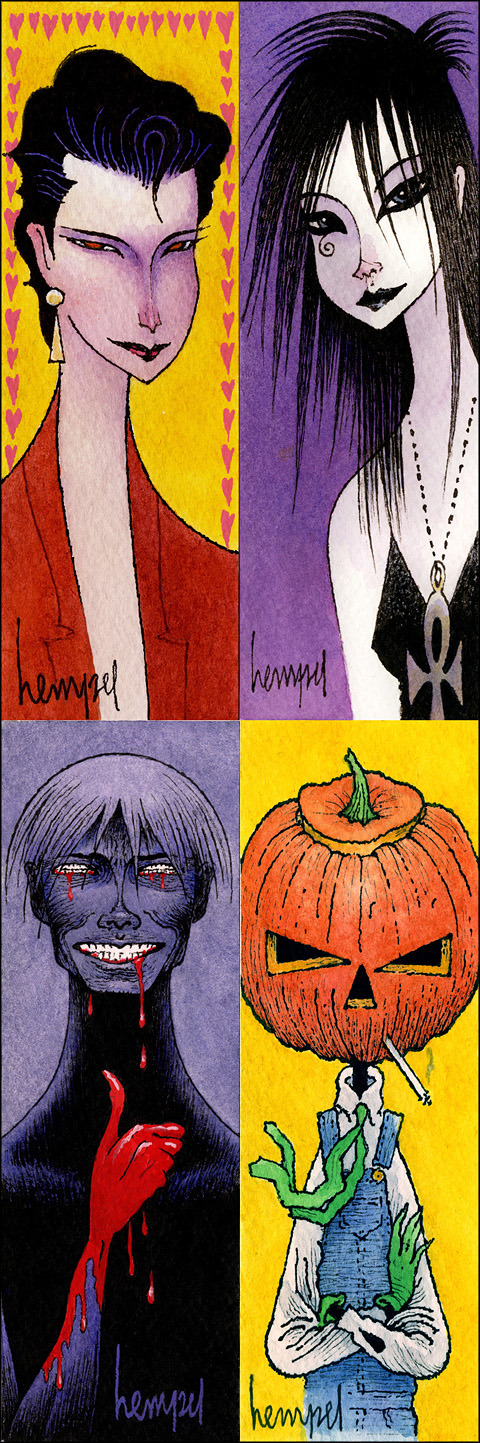 "Some new hand-drawn & painted Sandman character bookmarks (each is 2"" x 6""). Auctions @ http://www.ebay.com/sch/endless5769/m.html?item=321117864538&ssPageName=STRK%3AMESELX%3AIT&rt=nc&_trksid=p2047675.l2562"