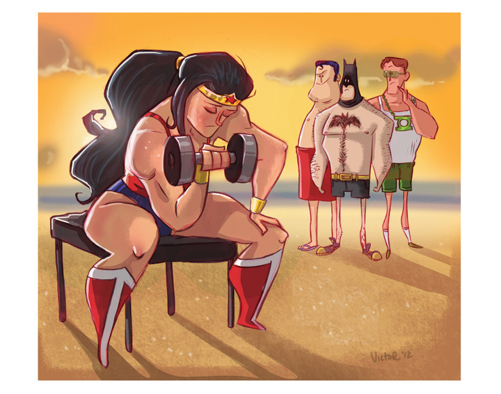 """wonder woman workout"" by jeff victor. so much love."