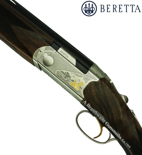 abgunsmiths:  Beretta Ultralight Gold This new addition to the Ultralight series boasts a beautiful new receiver shape, a selected walnut stock and contemporary gamescene engraving. This model also features a new anti-corrosion treatment.