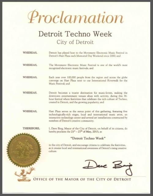 City of #Detroit - Detroit Techno Week