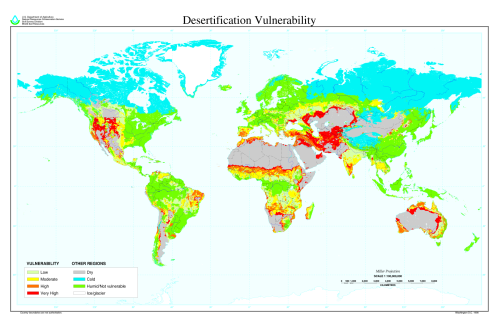 mapsontheweb:  Desertification of the world
