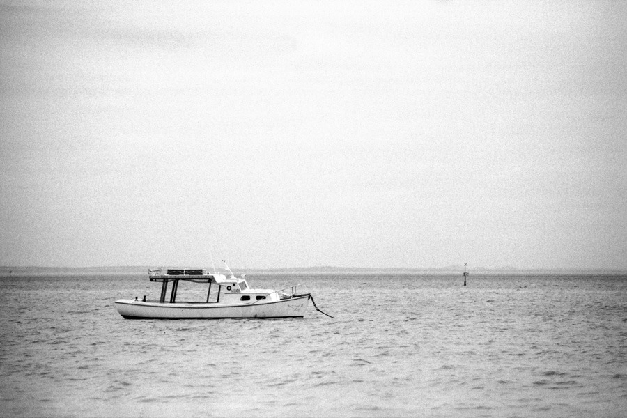 Untitled (Port Phillip Bay) 2013Nikon F3; Nikkor 80-200mm f/2.8; Ilford FP4 Plus; Ilfosol 3