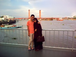 Me, My Mom, and Palembang. at Jembatan Ampera – View on Path.