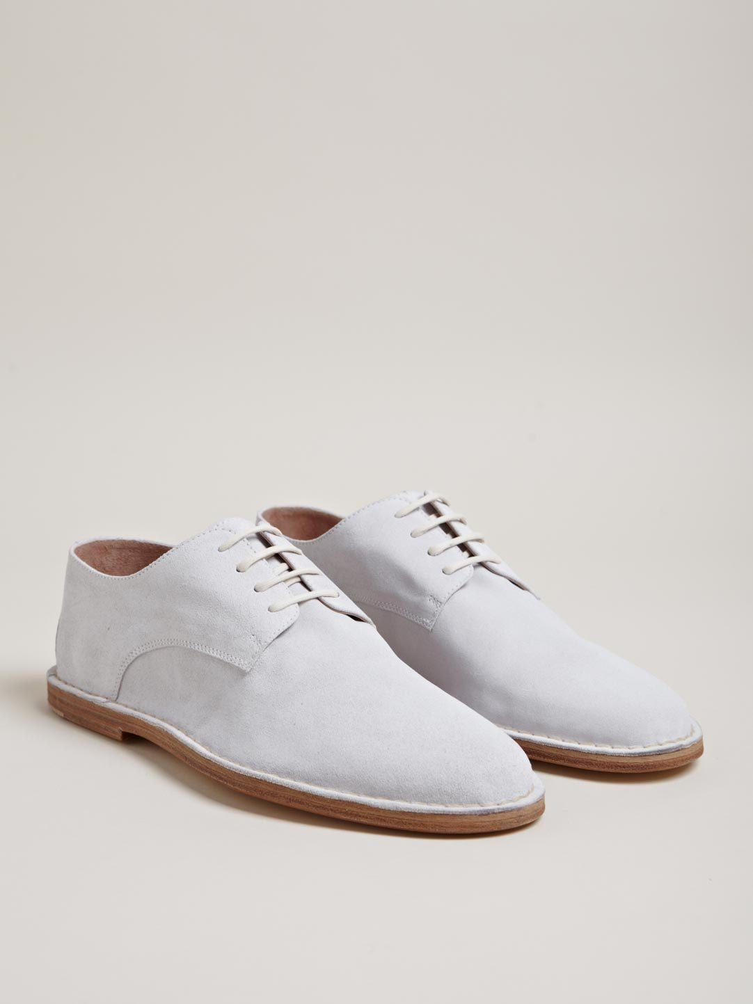 wantering:  Ann Demeulemeester Suede Leather Derby Shoes