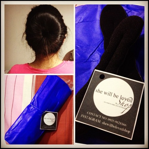 Now i can bun my hair like a boss! @shewillbelovedshop really made the effort of putting it in good packaging, thank you so so much! :))